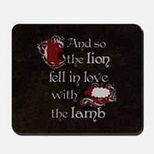 Twilight Lion and Lamb Mousepad