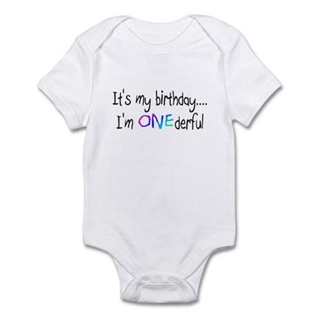 It's My Birthday, I'm One-derful Infant Bodysuit