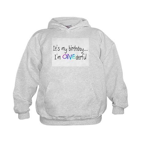 It's My Birthday, I'm One-derful Kids Hoodie