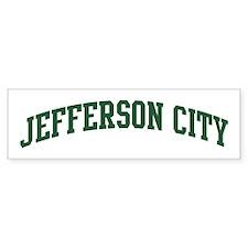 Jefferson City (green) Bumper Bumper Sticker