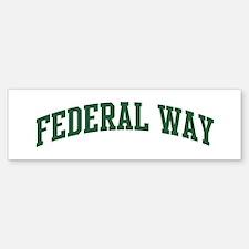 Federal Way (green) Bumper Bumper Bumper Sticker