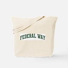 Federal Way (green) Tote Bag