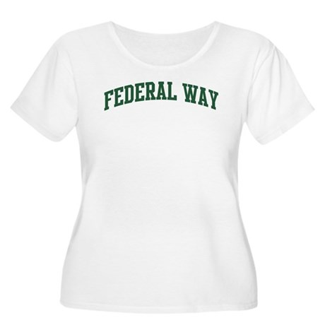Federal Way (green) Women's Plus Size Scoop Neck T