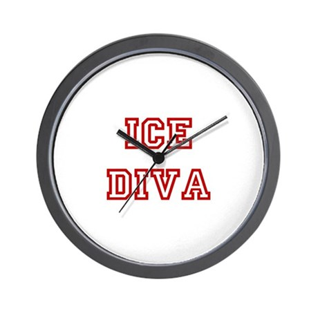 Ice Diva-Red Wall Clock