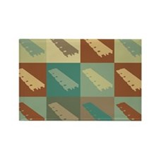 Xylophone Pop Art Rectangle Magnet