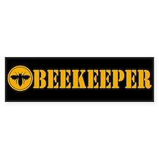 Beekeeper Stencil Bumper Bumper Sticker