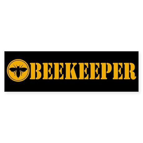 Beekeeper Stencil Bumper Sticker