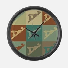 Woodworking Pop Art Large Wall Clock