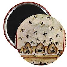 "Vintage Bees (ts) 2.25"" Magnet (10 pack)"