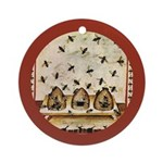 Vintage Bees (ts) Ornament (Round)