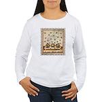 Vintage Bees (ts) Women's Long Sleeve T-Shirt