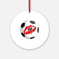 Soccer (Kiss) Ornament (Round)