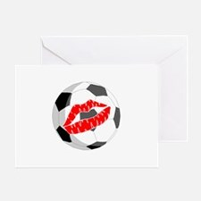 Soccer (Kiss) Greeting Card