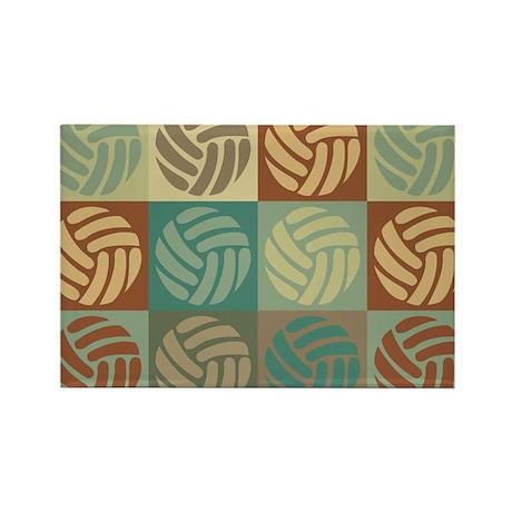 Volleyball Pop Art Rectangle Magnet (100 pack)