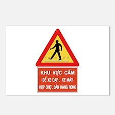 Pedestrian Crossing w/text, Vietnam Postcards (Pac
