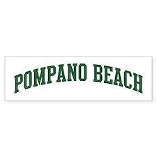 Pompano Beach (green) Bumper Car Sticker