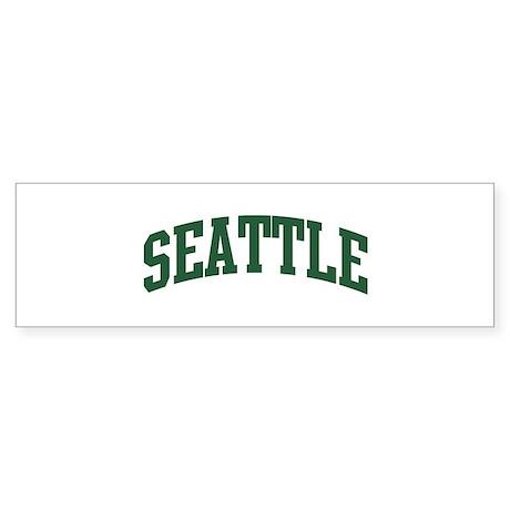 Seattle (green) Bumper Sticker