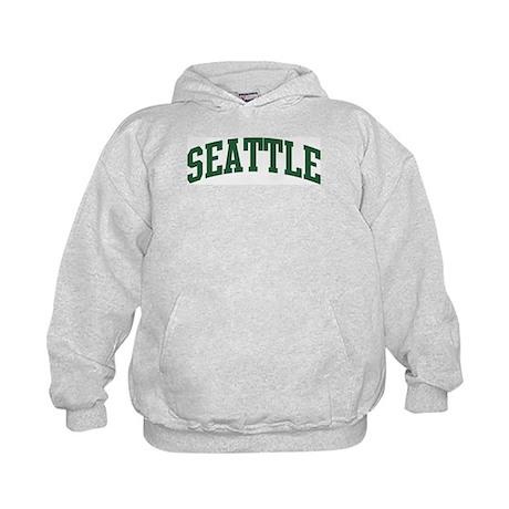 Seattle (green) Kids Hoodie