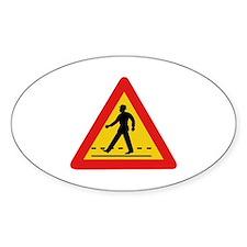 Pedestrian Crossing, Vietnam Oval Decal