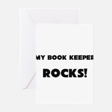 MY Book Keeper ROCKS! Greeting Cards (Pk of 10)