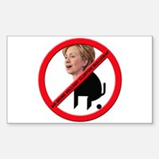 No Hillary Clinton Bullcrap Rectangle Decal