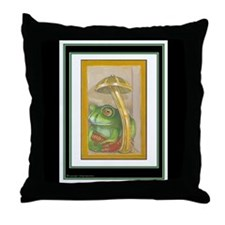 T. Meritous Toad Throw Pillow