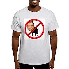 No Tony Blair Bullcrap Ash Grey T-Shirt