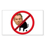 No Tony Blair Bullcrap Rectangle Sticker