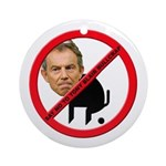 No Tony Blair Bullcrap Ornament (Round)