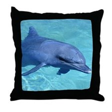 Serenity Dolphin Throw Pillow