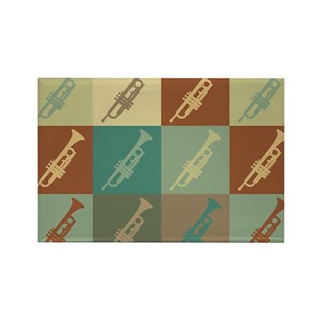 Trumpet Pop Art Rectangle Magnet (10 pack)