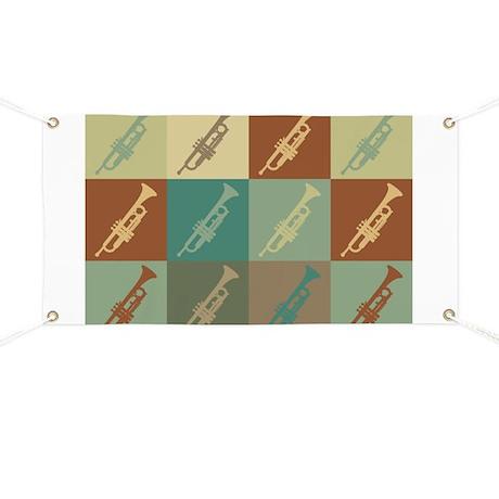 Trumpet Pop Art Banner