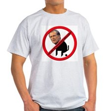 No Donald Rumsfeld Bullcrap Ash Grey T-Shirt