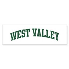 West Valley (green) Bumper Bumper Sticker