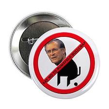 "No Donald Rumsfeld Bullcrap 2.25"" Button (10 pack)"