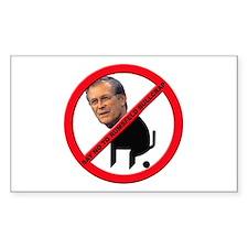 No Donald Rumsfeld Bullcrap Rectangle Decal