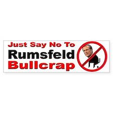No Donald Rumsfeld Bullcrap Bumper Bumper Sticker