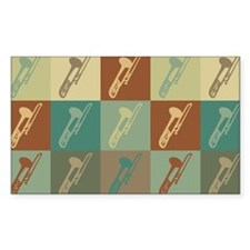 Trombone Pop Art Rectangle Decal