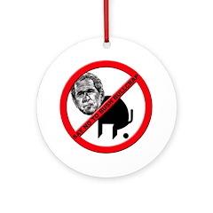 No George Bush Bullcrap Ornament (Round)