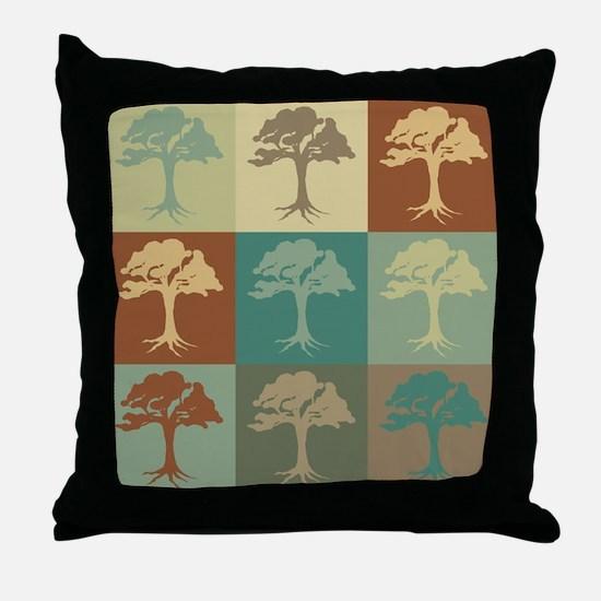 Trees Pop Art Throw Pillow