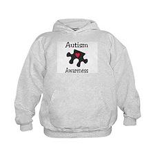 Autism Awareness (Black/Red Heart) Hoodie