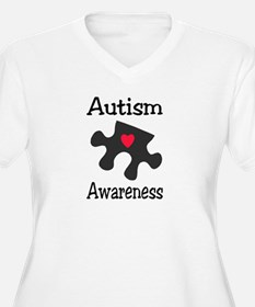 Autism Awareness (Black/Red Heart) T-Shirt