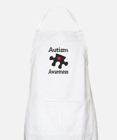 Autism Awareness (Black/Red Heart) BBQ Apron