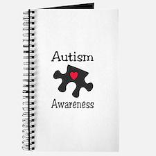 Autism Awareness (Black/Red Heart) Journal