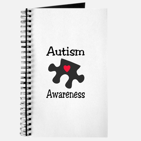 Autism Awareness (Black/Red Heart) Journal