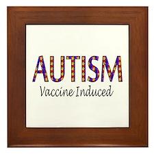 Autism, Vaccine Induced Framed Tile