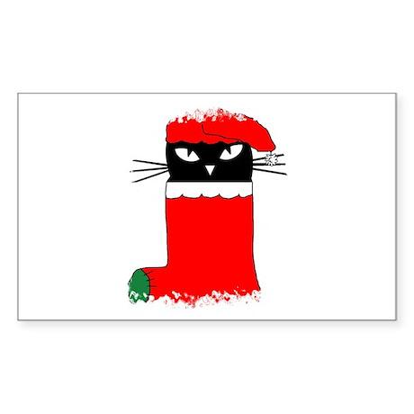 CHRISTMAS KITTY Rectangle Sticker
