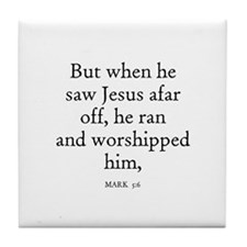 MARK  5:6 Tile Coaster