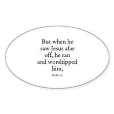 MARK 5:6 Oval Decal
