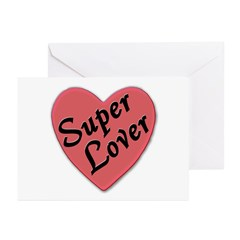 Super Lover Heart Greeting Cards (Pk of 10)